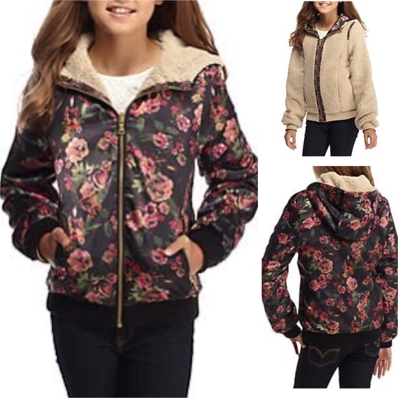 Jessica Simpson Other - Jessica S floral reversible bomber jacket 421